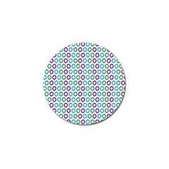 Polka Dot Like Circle Purple Blue Green Golf Ball Marker by Mariart