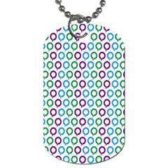 Polka Dot Like Circle Purple Blue Green Dog Tag (two Sides) by Mariart