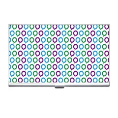Polka Dot Like Circle Purple Blue Green Business Card Holders by Mariart