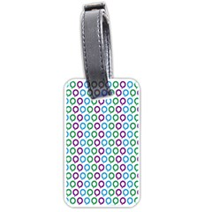 Polka Dot Like Circle Purple Blue Green Luggage Tags (one Side)  by Mariart