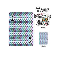 Polka Dot Like Circle Purple Blue Green Playing Cards 54 (mini)  by Mariart