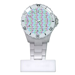 Polka Dot Like Circle Purple Blue Green Plastic Nurses Watch by Mariart