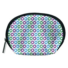 Polka Dot Like Circle Purple Blue Green Accessory Pouches (medium)  by Mariart
