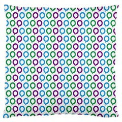 Polka Dot Like Circle Purple Blue Green Standard Flano Cushion Case (one Side) by Mariart