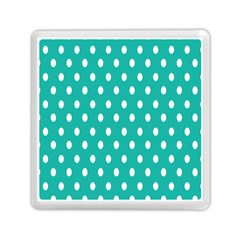 Polka Dots White Blue Memory Card Reader (square)  by Mariart