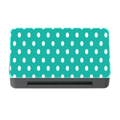 Polka Dots White Blue Memory Card Reader With Cf by Mariart