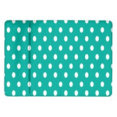 Polka Dots White Blue Samsung Galaxy Tab 10 1  P7500 Flip Case by Mariart