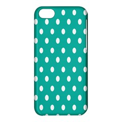 Polka Dots White Blue Apple Iphone 5c Hardshell Case by Mariart