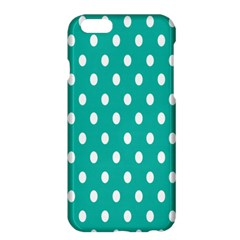 Polka Dots White Blue Apple Iphone 6 Plus/6s Plus Hardshell Case by Mariart