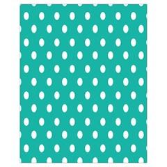 Polka Dots White Blue Drawstring Bag (small) by Mariart