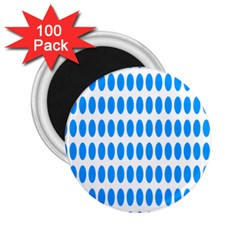 Polka Dots Blue White 2 25  Magnets (100 Pack)  by Mariart