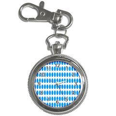 Polka Dots Blue White Key Chain Watches by Mariart