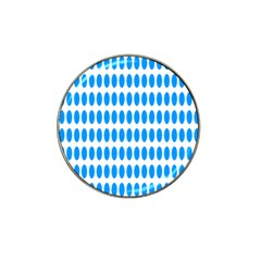 Polka Dots Blue White Hat Clip Ball Marker (4 Pack) by Mariart