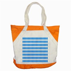 Polka Dots Blue White Accent Tote Bag by Mariart