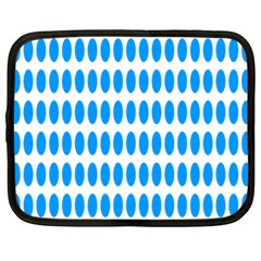 Polka Dots Blue White Netbook Case (large) by Mariart
