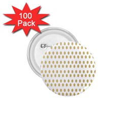 Polka Dots Gold Grey 1 75  Buttons (100 Pack)  by Mariart