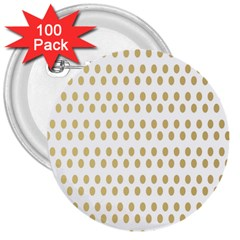 Polka Dots Gold Grey 3  Buttons (100 Pack)  by Mariart