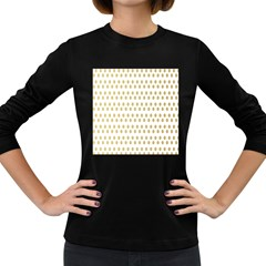 Polka Dots Gold Grey Women s Long Sleeve Dark T Shirts by Mariart