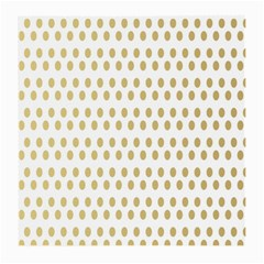 Polka Dots Gold Grey Medium Glasses Cloth by Mariart