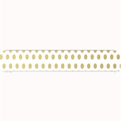 Polka Dots Gold Grey Small Bar Mats by Mariart