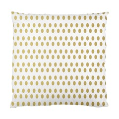 Polka Dots Gold Grey Standard Cushion Case (two Sides) by Mariart