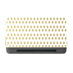 Polka Dots Gold Grey Memory Card Reader With Cf by Mariart