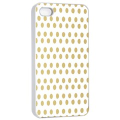 Polka Dots Gold Grey Apple Iphone 4/4s Seamless Case (white) by Mariart