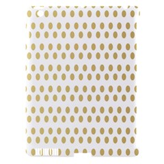 Polka Dots Gold Grey Apple Ipad 3/4 Hardshell Case (compatible With Smart Cover) by Mariart