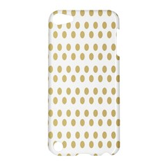 Polka Dots Gold Grey Apple Ipod Touch 5 Hardshell Case by Mariart