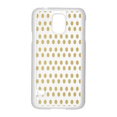 Polka Dots Gold Grey Samsung Galaxy S5 Case (white) by Mariart