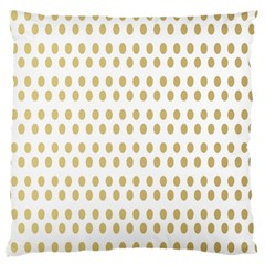Polka Dots Gold Grey Large Flano Cushion Case (one Side) by Mariart