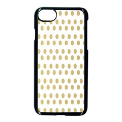 Polka Dots Gold Grey Apple Iphone 7 Seamless Case (black) by Mariart