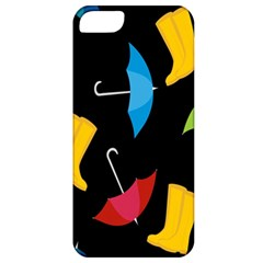 Rain Shoe Boots Blue Yellow Pink Orange Black Umbrella Apple Iphone 5 Classic Hardshell Case by Mariart
