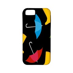 Rain Shoe Boots Blue Yellow Pink Orange Black Umbrella Apple Iphone 5 Classic Hardshell Case (pc+silicone)