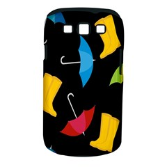 Rain Shoe Boots Blue Yellow Pink Orange Black Umbrella Samsung Galaxy S Iii Classic Hardshell Case (pc+silicone)