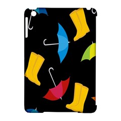 Rain Shoe Boots Blue Yellow Pink Orange Black Umbrella Apple Ipad Mini Hardshell Case (compatible With Smart Cover) by Mariart