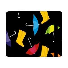 Rain Shoe Boots Blue Yellow Pink Orange Black Umbrella Samsung Galaxy Tab Pro 8 4  Flip Case by Mariart