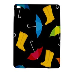 Rain Shoe Boots Blue Yellow Pink Orange Black Umbrella Ipad Air 2 Hardshell Cases by Mariart