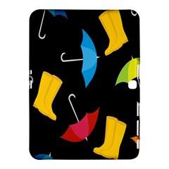 Rain Shoe Boots Blue Yellow Pink Orange Black Umbrella Samsung Galaxy Tab 4 (10 1 ) Hardshell Case  by Mariart