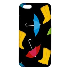 Rain Shoe Boots Blue Yellow Pink Orange Black Umbrella Iphone 6 Plus/6s Plus Tpu Case by Mariart