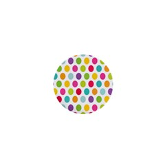 Polka Dot Yellow Green Blue Pink Purple Red Rainbow Color 1  Mini Buttons by Mariart