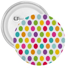 Polka Dot Yellow Green Blue Pink Purple Red Rainbow Color 3  Buttons by Mariart