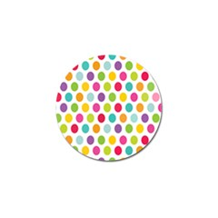 Polka Dot Yellow Green Blue Pink Purple Red Rainbow Color Golf Ball Marker (10 Pack) by Mariart