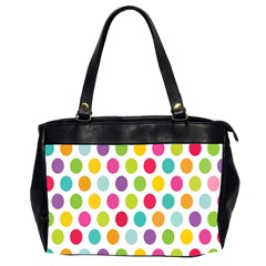 Polka Dot Yellow Green Blue Pink Purple Red Rainbow Color Office Handbags (2 Sides)