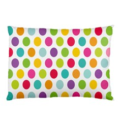 Polka Dot Yellow Green Blue Pink Purple Red Rainbow Color Pillow Case (two Sides) by Mariart