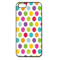 Polka Dot Yellow Green Blue Pink Purple Red Rainbow Color Apple Iphone 5 Seamless Case (black) by Mariart