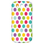 Polka Dot Yellow Green Blue Pink Purple Red Rainbow Color Samsung Galaxy S3 S III Classic Hardshell Back Case Front