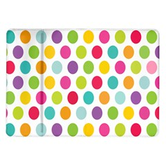 Polka Dot Yellow Green Blue Pink Purple Red Rainbow Color Samsung Galaxy Tab 10 1  P7500 Flip Case by Mariart