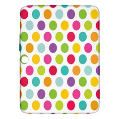 Polka Dot Yellow Green Blue Pink Purple Red Rainbow Color Samsung Galaxy Tab 3 (10 1 ) P5200 Hardshell Case