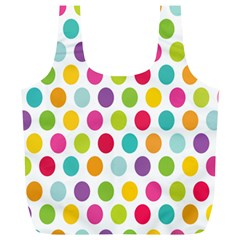 Polka Dot Yellow Green Blue Pink Purple Red Rainbow Color Full Print Recycle Bags (l)  by Mariart